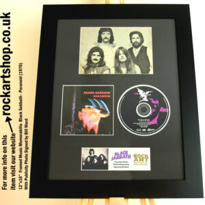 BLACK SABBATH PARANOID SIGNED BILL WARD MUSIC MEMORABILIA OZZY