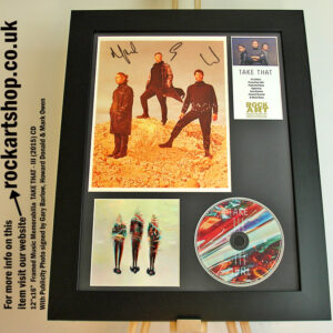 TAKE THAT III PHOTO SIGNED BY GARY BARLOW HOWARD JASON FRAMED