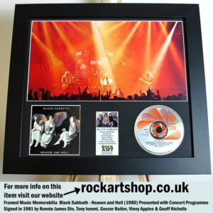 BLACK SABBATH SIGNED 1982 RONNIE JAMES DIO +TONY +GEEZER +VINNY