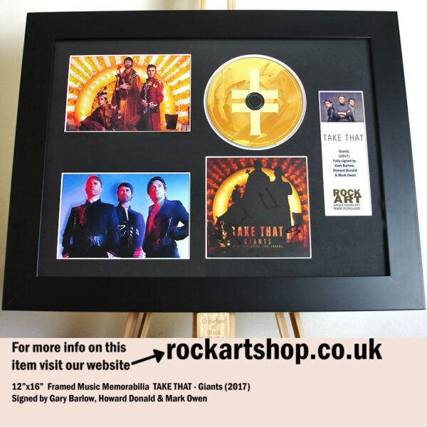 TAKE THAT AUTOGRAPHED GARY BARLOW HOWARD DONALD MARK OWEN