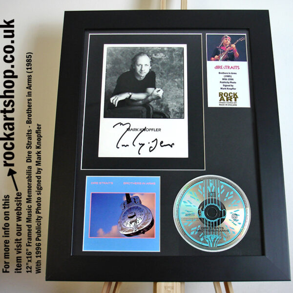 DIRE STRAITS BROTHERS IN ARMS AUTOGRAPHED MARK KNOPFLER
