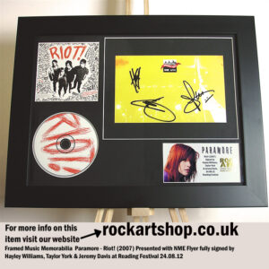 PARAMORE SIGNED HAYLEY WILLIAMS +TAYLOR+JEREMY READING FESTIVAL