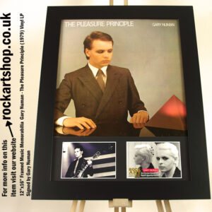 GARY NUMAN THE PLEASURE PRINCIPLE SIGNED VINYL MEMORABILIA