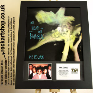 THE CURE VINYL 1985 SIGNED ROBERT SMITH LOL +PORL +SIMON +BORIS